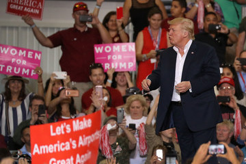 Donald Trump Trump Holds Rally in Melbourne, Florida