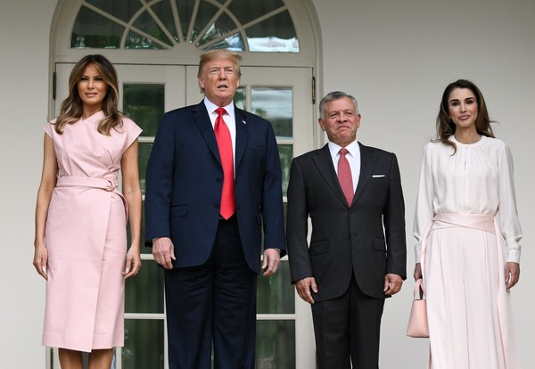 President Trump Welcomes King Abdullah And Queen Rania Of Jordan To White House