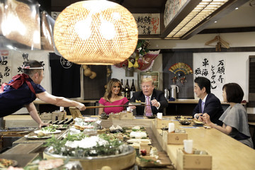 Donald Trump Shinzo Abe European Best Pictures Of The Day - May 26, 2019