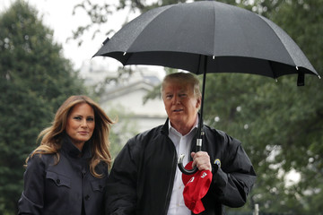Donald Trump - US President President And Mrs Trump Depart White House For Florida And Georgia