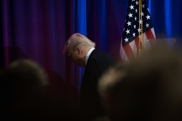 Donald Trump Donald Trump Gives Speech On Presidential Election In New York
