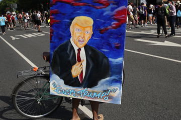 Donald Trump Protesters Demonstrate In D.C. Against Death Of George Floyd By Police Officer In Minneapolis