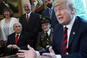 Donald Trump European Best Pictures Of The Day - April 12, 2019