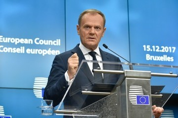 Donald Tusk European Council Leaders Meet in Brussels