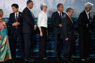 Donald Tusk Heads Of State Attend G7 Meeting - Day Two