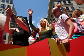 Donatella Versace Thousands Flock To Annual Pride March  In New York City