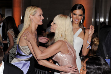 Donatella Versace The amfAR New York Gala 2017 Sponsored by FIJI Water
