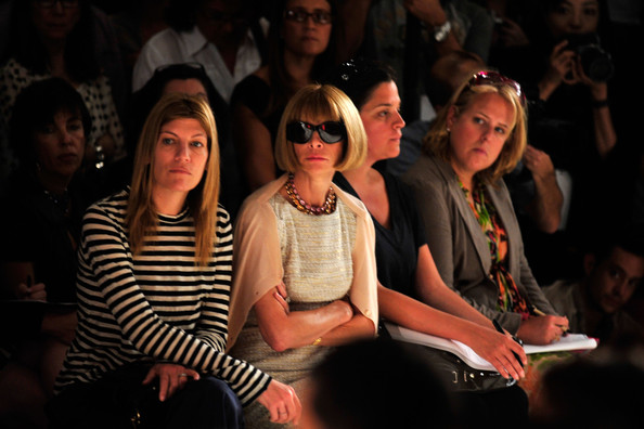 Anna Wintour at Donna Karan MFW