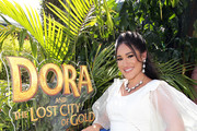 "Q'orianka Kilcher attends the ""Dora and the Lost City of Gold"" World Premiere at the  Regal LA Live on July 28, 2019 in Los Angeles, California."