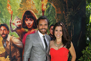 "(L-R) Aitana Derbez, Eugenio Derbez, and Alessandra Rosaldo attend the ""Dora and the Lost City of Gold"" World Premiere at the  Regal LA Live on July 28, 2019 in Los Angeles, California."