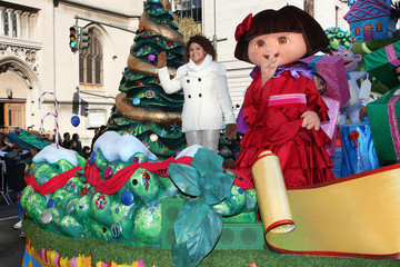 Dora The Explorer Nickelodeon Stars Take To The Streets Of NYC For The 86th Annual Macy's Thanksgiving Day Parade