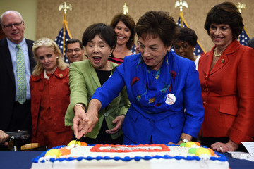 Doris Matsui Democratic House Leader Nancy Pelosi Marks 50th Anniversary Of Medicare And Medicaid With Senate And House Lawmakers