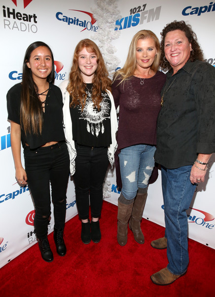 102.7 KIIS FM's Jingle Ball - Backstage [event,premiere,carpet,flooring,dot-marie jones,guests,bridgett casteen,kiis fm\u00e2,california,los angeles,staples center,kiis fm,capital one,jingle ball - backstage]