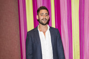 Michael Socha attends the UK premiere of 'Double Date' at The Soho Hotel on October 10, 2017 in London, England.