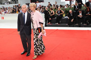 Giampaolo Letta and  Rossana Ridolfi walk the red carpet ahead of the 'Doubles Vies (Non Fiction)' screening during the 75th Venice Film Festival at Sala Grande on August 31, 2018 in Venice, Italy.