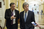 Sen. Roy Blunt (R-MO) walks near the Senate Floor on September 27, 2018 in Washington, DC. On Thursday, Christine Blasey Ford, who has accused Kavanaugh of sexual assault, is testifying before the Senate Judiciary Committee.