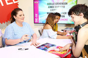 (L-R) Lauren Ash, Aimee Carrero and Marcus Scribner meet fans at DreamWorks She-Ra and the Princesses of Power at San Diego Comic-Con 2019 at San Diego Convention Center on July 19, 2019 in San Diego, California.