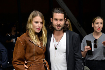 Dree Hemingway Phil Winser MBFW: Front Row at Calvin Klein Collection
