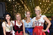 Viktoria Lauterbach, Nova Meierhenrich, Ruth Moschner and Natascha Gruen  during the dresscoded goes Wasen event at Armani Caffe on August 31, 2016 in Munich, Germany. Dresscoded will lend out Dirndl for the Stuttgarter Wasen that will take place from September 29 till October 9, 2016.