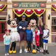 Drew Brees Drew Brees And Family Celebrate Vacation With Mickey Mouse And Minnie Mouse At Disneyland Park