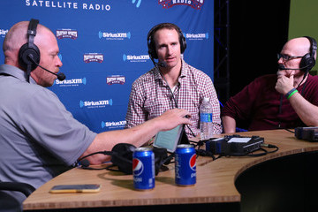 Drew Brees SiriusXM at Super Bowl LI Radio Row