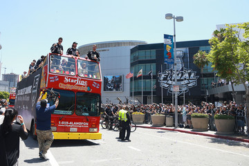 Drew Doughty Alec Martinez Los Angeles Kings Victory Parade and Rally