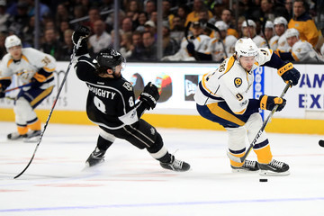 Drew Doughty Nashville Predators v Los Angeles Kings