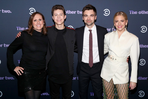 Comedy Central's The Other Two Series Premiere Party [event,premiere,fashion,lexus,carpet,performance,suit,fashion design,ne yorke,drew tarver,molly shannon,case walker,l-r,hel\u00e3,dream hotel downtown,the other two,comedy central,series premiere party]