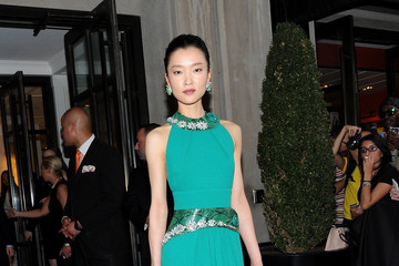 Du Juan Met Gala 2015 Departures From The Mark Hotel - NYC