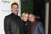 (L-R) Tony Robbins, Sage Robbins and Jason Binn attend DuJour Magazine's Jason Binn and Invicta Watches in the welcoming of Tony Robbins to New York at Catch NYC on November 17, 2014 in New York City.