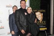 (L-R) Founder of DuJour Media Jason Binn, Life Coach Tony Robbins and Sage Robbins attend DuJour Magazine's Jason Binn and Invicta Watches in the welcoming of Tony Robbins to New York at Catch NYC on November 17, 2014 in New York City.