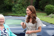 Catherine, Duchess of Cambridge arrives for a photography workshop for Action for Children, run by the Royal Photographic Society at Warren Park on June 25, 2019 in Kingston, England.