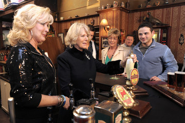 Anne Kirkbride The Duchess Of Cornwall - Coronation Street Visit
