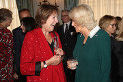Actress Penelope Wilton and Camilla, Duchess of Cornwalll attend a reception to celebrate the launch of the 'Our Amazing People' campaign at Clarence House on October 17, 2017 in London, England. The Duchess of Cornwall is an advocate of active ageing and the welfare of the older generation. Her Royal Highness has been President of the Royal Voluntary Service since 2012 and became patron of The Silver Line, a helpline for elderly people, as part of her 70th birthday celebrations this summer.