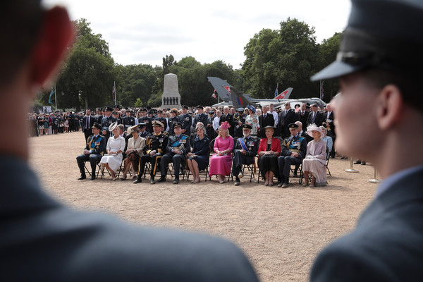 Members Of The Royal Family Attend Events To Mark The Centenary Of The RAF [the royal family attend events to mark the centenary of the raf,people,crowd,pink,tourism,event,tree,leisure,festival,vacation,audience,anne,members,michael,edward,richard,duke,l-r,duchess,kent]