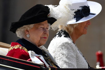 Duchess of Cornwal Order Of The Garter Service