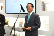 Japan's Deputy Prime minister Taro Aso speaks during The Official Opening of Japan House London, the new Cultural Home of Japan in the UK on September 13, 2018 in London, England.