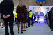 Prince William, Duke of Cambridge opens the new NHS Nightingale Hospital via video link on April 16, 2020 in Birmingham, England. The Coronavirus (COVID-19) pandemic has spread to many countries across the world, claiming over 130,000 lives and infecting over 2 million people.