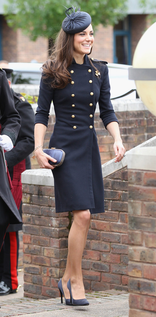 Catherine, Duchess of Cambridge arrives at the Victoria Barracks on June 25, 2011 in Windsor, England. The Duchess of Cambridge and Duke of Cambridge are at the barracks to present service medals to members of the Irish Guards.