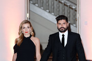 Andrew Levitas and Katherine Jenkins attend The Tusk Conservation Awards at Banqueting House on November 08, 2018 in London, England.