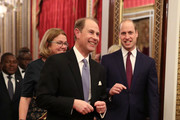 Prince Edward, Earl of Wessex and Prince William, Duke of Cambridge attend a reception to mark the UK-Africa Investment Summit at Buckingham Palace on January 20, 2020 in London, England.