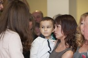 Charlie Bennett, aged 5, meets Catherine, Duchess of Cambridge during her visit to Peterborough City Hospital during an official visit to Peterborough on November 28, 2012 in Peterborough,  England.