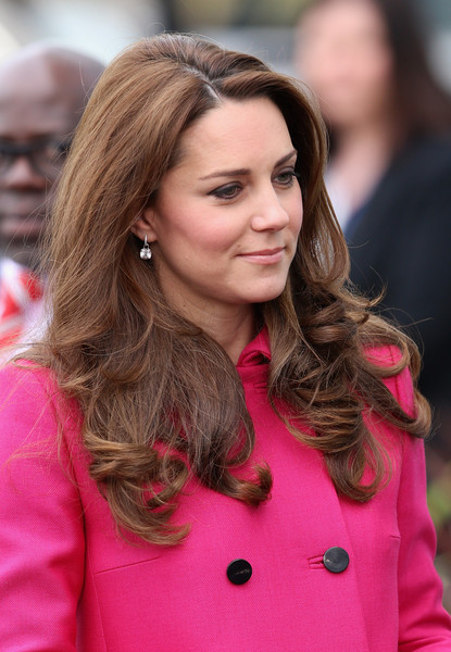 Catherine, Duchess of Cambridge arrives at the  Stephen Lawrence Centre on March 27, 2015 in London, England.
