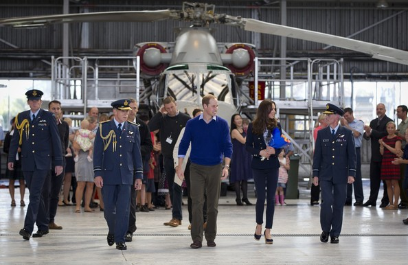 Prince William, Duke of Cambridge and Catherine, Duchess of Cambridge arrive at RNZAF airbase, Whenuapai on April 11, 2014 in Auckland, New Zealand.  The Duke and Duchess of Cambridge are on a three-week tour of Australia and New Zealand, the first official trip overseas with their son, Prince George of Cambridge.