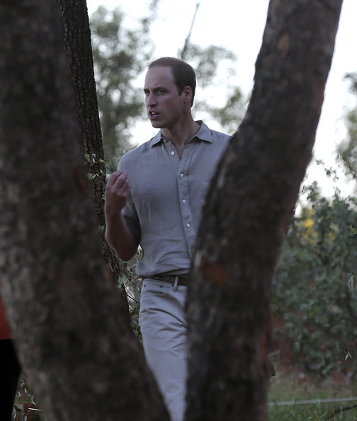 Prince William, Duke of Cambridge walks along the Kuniya walk at Uluru on April 22, 2014 in Ayers Rock, Australia. The Duke and Duchess of Cambridge are on a three-week tour of Australia and New Zealand, the first official trip overseas with their son, Prince George of Cambridge.