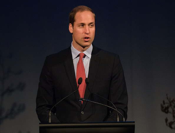 Prince William, Duke of Cambridge speaks during a lunch at the Wigram Air Base Museum on April 14, 2014 in Christchurch, New Zealand. The Duke and Duchess of Cambridge are on a three-week tour of Australia and New Zealand, the first official trip overseas with their son, Prince George of Cambridge.