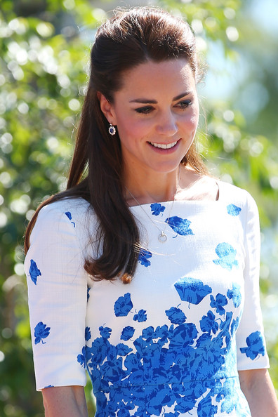Catherine, Duchess of Cambridge arrives at a function at the Royal Australian Airforce Base at Amberley on April 19, 2014 in Brisbane, Australia. The Duke and Duchess of Cambridge are on a three-week tour of Australia and New Zealand, the first official trip overseas with their son, Prince George of Cambridge.