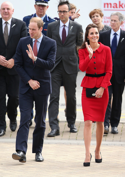 Prince William, Duke of Cambridge and Catherine, Duchess of Cambridge arrive at Christchurch City Council Buildings on April 14, 2014 in Christchurch, New Zealand. The Duke and Duchess of Cambridge are on a three-week tour of Australia and New Zealand, the first official trip overseas with their son, Prince George of Cambridge.