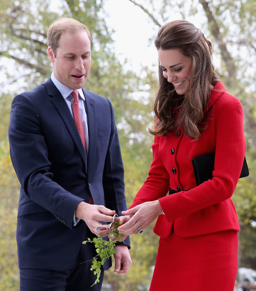Catherine Duchess of Cambridge and Prince William, Duke of Cambridge officially open the Visitor's Centre at the Botanical Gardens on April 14, 2014 in Christchurch, New Zealand. The Duke and Duchess of Cambridge are on a three-week tour of Australia and New Zealand, the first official trip overseas with their son, Prince George of Cambridge.