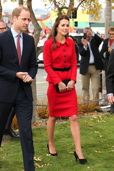 Prince William, Duke of Cambridge and Catherine, Duchess of Cambridge during visit the CTV memorial site on April 14, 2014 in Christchurch, New Zealand. The Duke and Duchess of Cambridge are on a three-week tour of Australia and New Zealand, the first official trip overseas with their son, Prince George of Cambridge.